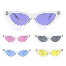Girls Child Size Clear Frame Hippie Color Lens Cat Eye Retro Sunglasses - $9.95