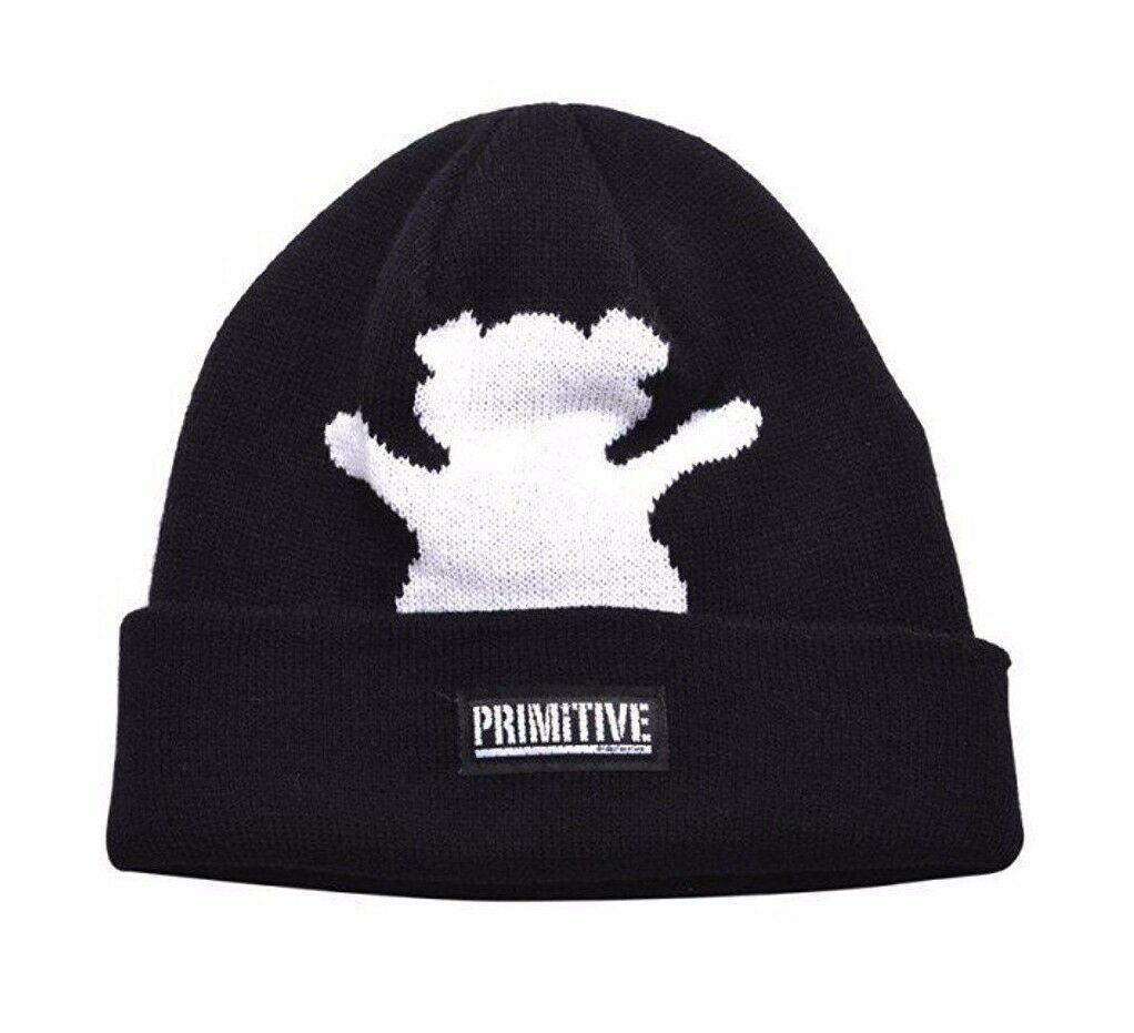 Einfach X Grizzly Griptape Schwarz Bär Faltbar Manschette Mütze Winter Skate Hut