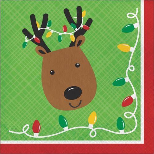 Friends of Santa Reindeer Paper 16 Ct Luncheon Napkins