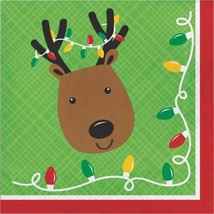 Friends of Santa Reindeer Paper 16 Ct Luncheon Napkins - $3.99