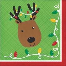 Friends of Santa Reindeer Paper 16 Ct Luncheon Napkins - $3.99