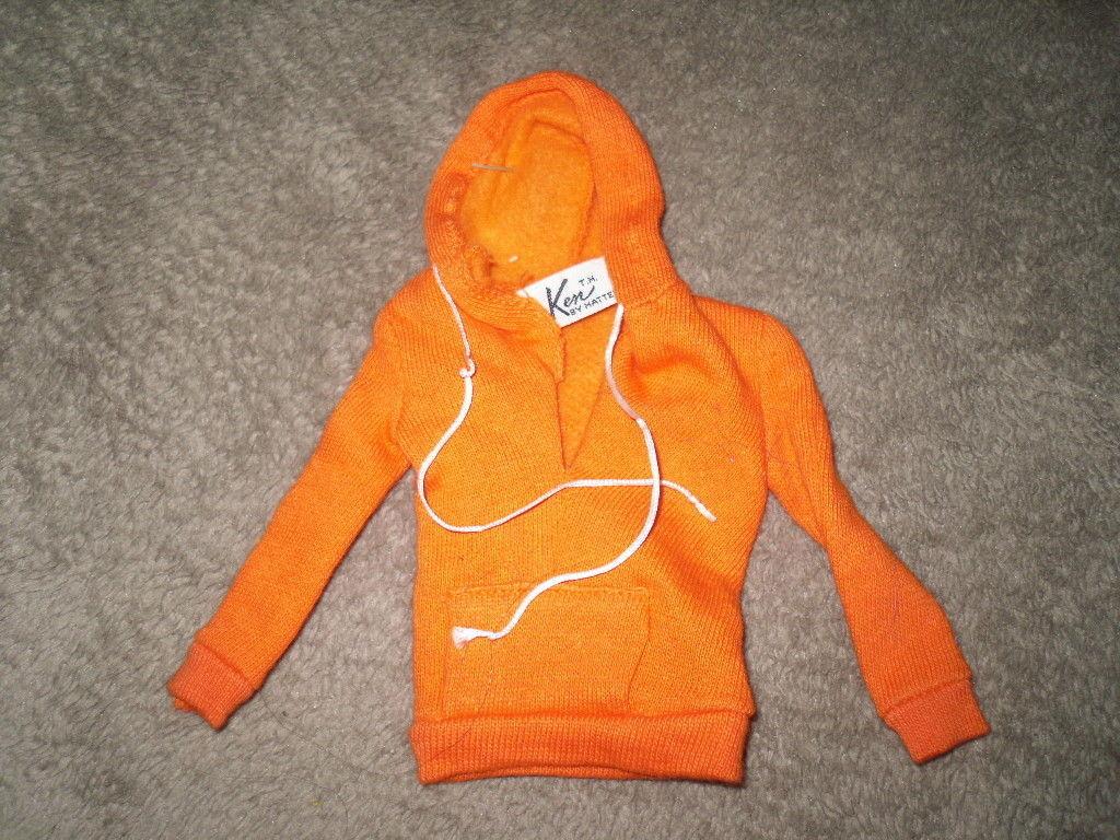 Mattel Barbie Doll Clothes - Ken Pak Orange Sweatshirt 1963 - BW Label image 2