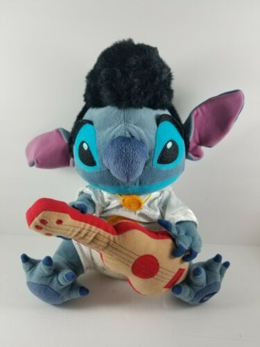"Primary image for Disney Lilo & Stitch Elvis Plush 14"" with Guitar/Ukulele Disney Store Exclusive"