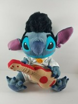"Disney Lilo & Stitch Elvis Plush 14"" with Guitar/Ukulele Disney Store Ex... - $44.99"