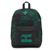 JanSport x Mark Gonzales Gonz FX Black Green Ghost Backpack 21 Liter Skateboard  - $39.55