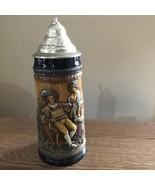 Vintage Gerz West Germany Keinen Tropfen ImBecher Mehr Lidded Beer Stein - $18.42