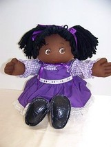 Vintage 1984 ooak handmade black cabbage patch type doll - $22.32