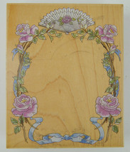 "STAMPS HAPPEN 80166 Rose Stem Frame Boarder Rubber Stamp 4.5"" x 5.5"" - $14.20"