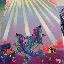 Lisa Frank Skeeter Seal Rainbow Reef Stationery & Stickers! Max Whale Dolphin image 6