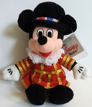 """Disney Store UK Beefeater Mickey Mouse Beanbag 9"""" Plush London England With Tags - $21.51"""