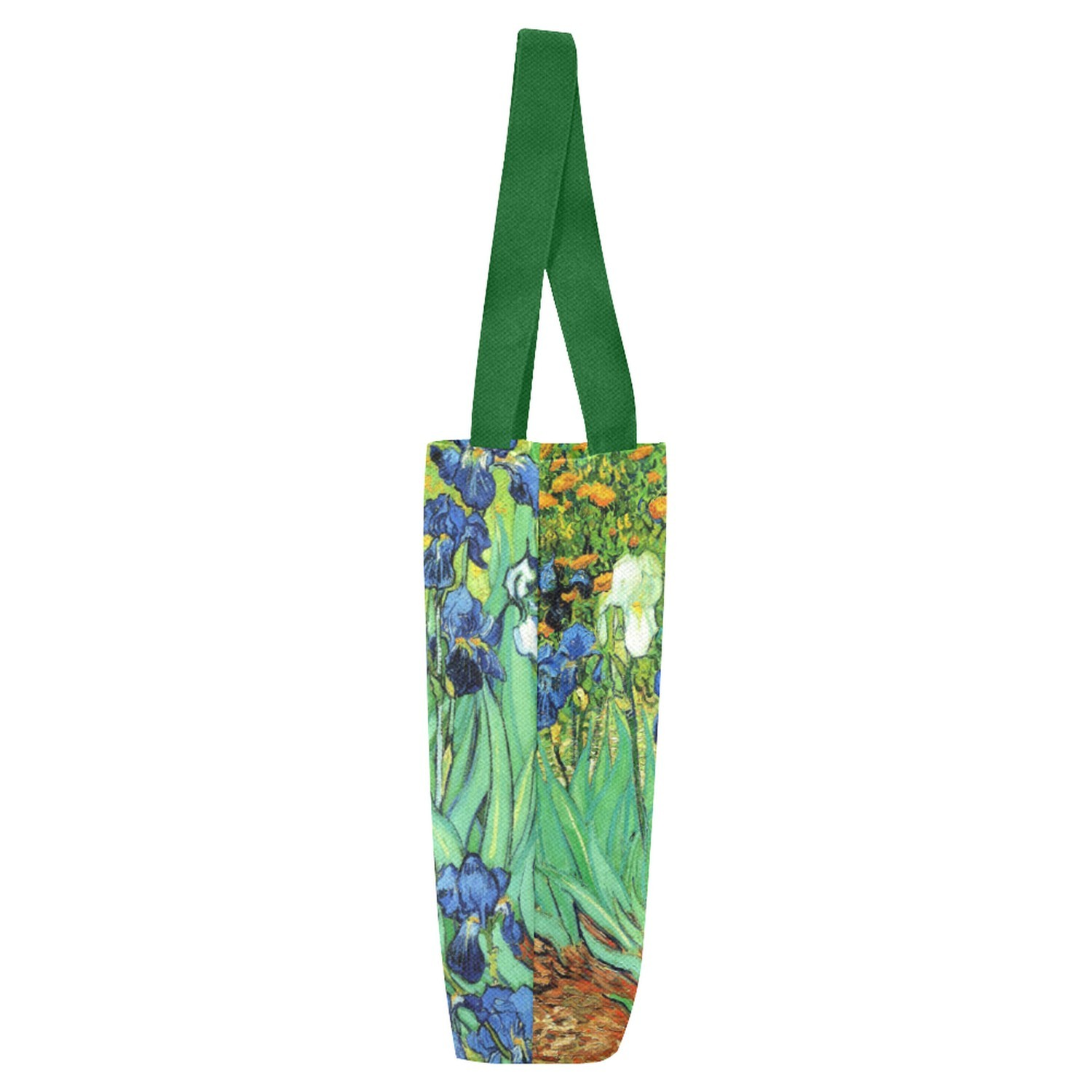 Set of TWO Irises Van Gogh Art Canvas Tote Bag Two Sides Printing