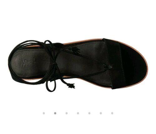 Frye women Miranda gladiator black size 8 MSRP $220
