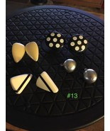 Vintage Clip Earrings - 4 Pairs  Lot #13 - $12.87