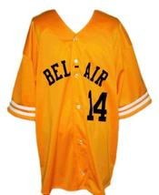 Will Smith Bel-Air Academy Baseball Jersey Button Down Yellow Any Size image 4