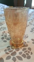 "Fostoria Vintage Glass With Flowers~Very Beautiful 5"" Tall - $14.84"