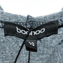 Boohoo Women's NYC Slogan Washed Gray Oversized Hooded Sweatshirt Size US 6 NWT image 3