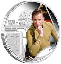 2015 P Star Trek Captain Kirk  Signed 1oz .999 Silver Proof Coin NGC PF70 ER