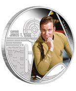 2015 P Star Trek Captain Kirk  Signed 1oz .999 Silver Proof Coin NGC PF7... - $508.79