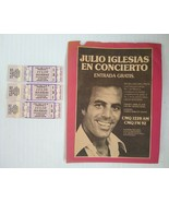 Vintage Julio Iglesias 1978 Concert Tickets - Orange Bowl Miami FL Spanish - $24.92