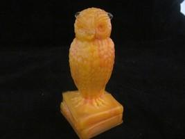 """Degenhart Owl - Bittersweet - 3 1/2"""" Tall - Standing on Books - $11.30"""