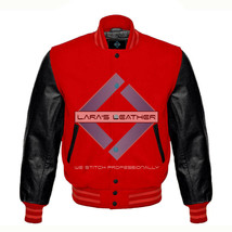 Premium Baseball Letterman Varsity Wool Jacket & Genuine Leather Sleeves... - $92.99