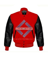 Premium Baseball Letterman Varsity Wool Jacket & Genuine Leather Sleeves... - $92.99