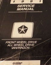 1991 Dodge Ram Van Wagon FWD Service Shop Repair Workshop Manual OEM Fac... - $29.65