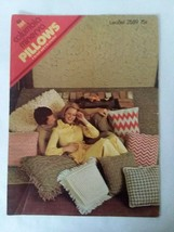 Vtg Crocheting Knitting Columbia Minerva Pillows Houndstooth Popcorn Bias - $4.94
