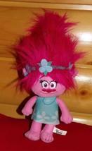 "Dreamworks TROLLS Plush 14"" Hot Pink Bright & Happy POPPY So Cute in Blue - $14.89"