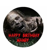 The Walking Dead Zombie TWD Edible Image Photo Cake Topper Sheet Persona... - $9.99