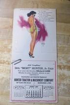 scarce 1949 Marilyn Monroe model,advertising calendar Hunter Tractor - $118.75