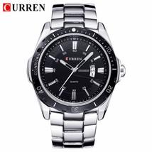 CURREN Fashion Business Wristwatch Casual Military  Sport Men's Watch Full Steel - $39.62