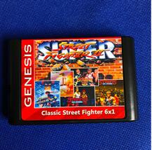 6 x 1 Street Fighter II + Street of Raga 1-3 - Sega Mega Drive Genesis Game Card - $23.31