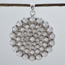 fine-looking Pearl 925 Sterling Silver White Pendant Natural jaipur US gift - $49.49