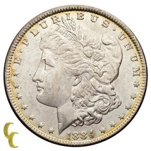 1884 Silver Morgan Dollar (Choice BU Condition) Full Mint Luster image 1