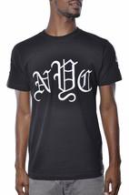 1183ml Quaranta Ounce Old English New York Nyc Ricamato Nero T-Shirt Nwt