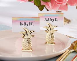 Tropical Pineapple Summer Beach Bridal Hawaii Wedding Place Card Holder ... - $74.05+