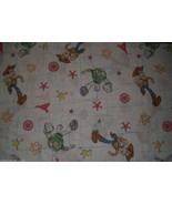 VINTAGE DISNEY TOY STORY WOODY & BUZZ LIGHTYEAR TWIN FLAT SHEET BEDDING ... - $23.38