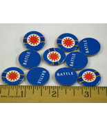 Fortress America Game Parts 10x Blue Battle Markers - $5.82