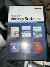 Microsoft Works Suite 2006 5 CDs in Original Case W/ Product Key Word Mo... - $18.50
