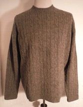 Abercrombie & Fitch Gray 100% Shetland Wool Cable Knit Crewneck sweater ... - $32.71