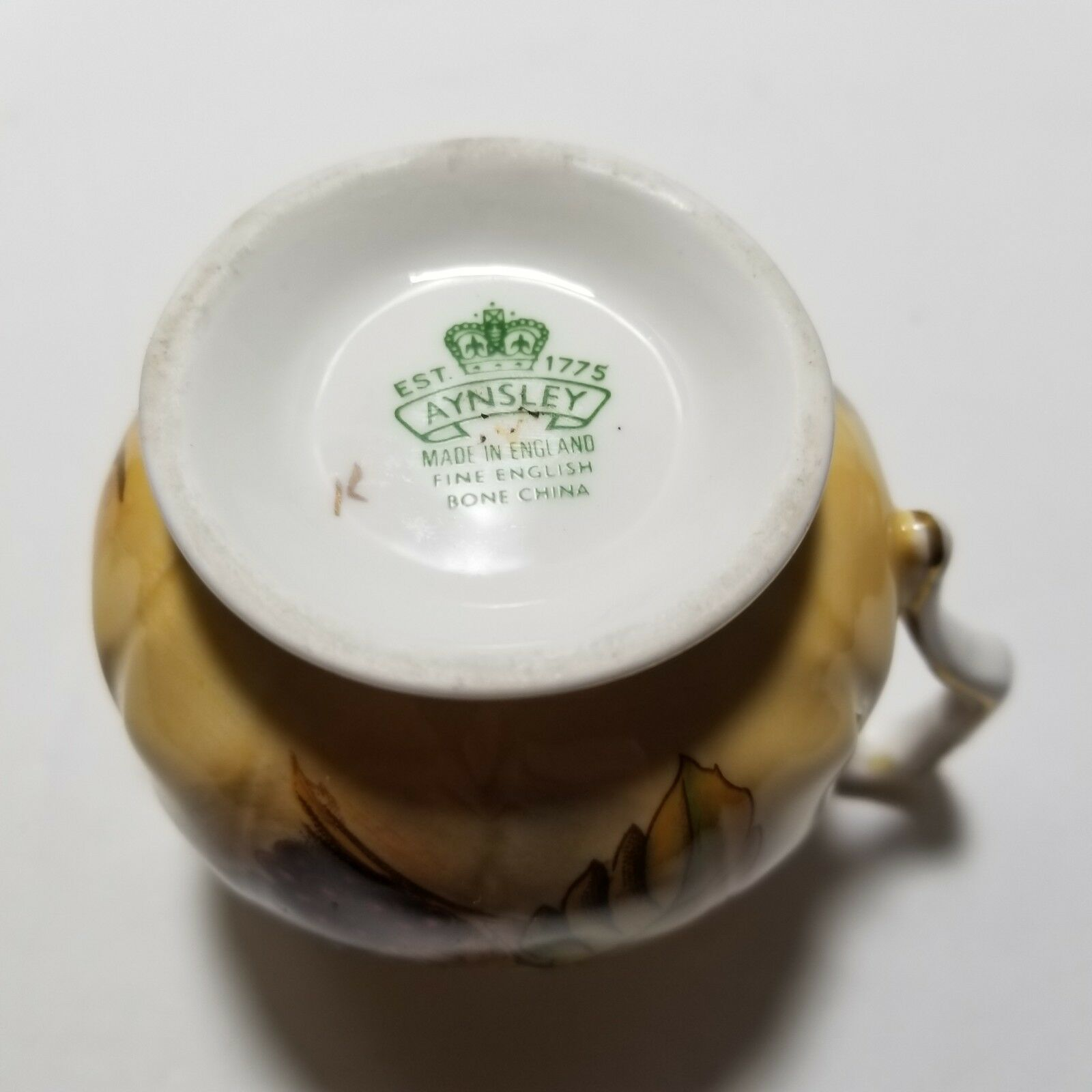 Aynsley Orchard Gold Mini Sugar Bowl and Creamer Set image 10