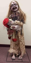 LIFE SIZE Zombie Little Girl Prop OUTDOOR HALLOWEEN DECORATION YARD HAUN... - $89.95