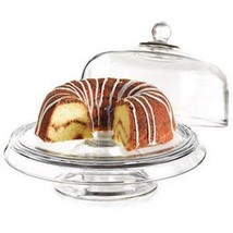 New Anchor 2 Pc Clear Glass Cake stand dome also is a Punch Bowl Set - $28.05