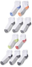 Fruit of the Loom Big Boys' 10 Pack Ankle Socks,  Assorted, Shoe: 3-9 - $8.18