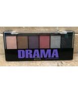 Profusion DRAMA 6 Color Powder Eyeshadow Palette Smokey Eye Applicator S... - $7.90