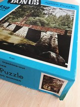 "Vintage 50s Whitman Bonus Interlocking Border Jigsaw Puzzle- #4651 ""Bridge""  image 6"