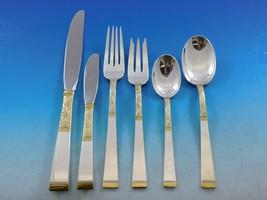 Golden Scroll by Gorham Sterling Silver Flatware Set Place size Service 57 Pcs - $4,306.50