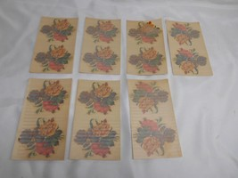 Antique Acme Decalcomania #1280 FLOWER DECALS Restoration 7 sheets of 2 ... - $49.49