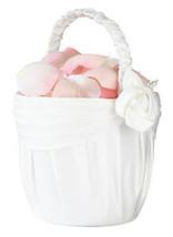 Cream Rose Flower Girl Basket Flower Girl Wedding flowers basket - $12.98